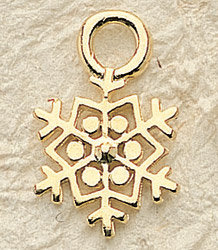 Snowflake Charm Pair