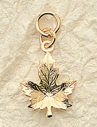Maple Leaf Charm Pair
