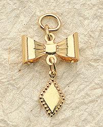 Diamond Bow Charm Pair