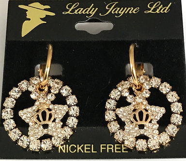 Daughters of the Nile Crystal Crown Star Earring Set