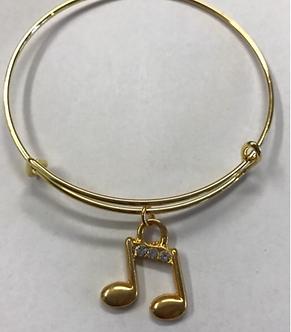 Harmony International Music Note Expandable Bracelet