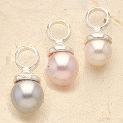 Painted Pearl Charm Pair