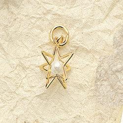 Star Pearl Charm Pair