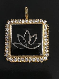Ladies Oriental Shrine Lotus Medallion