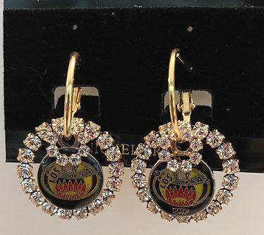 Ladies Oriental Shrine Earring Set