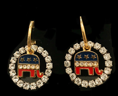 Republican Elephant Charm