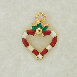 Candy Cane Frame Heart