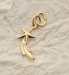 Shooting Star Charm Pair