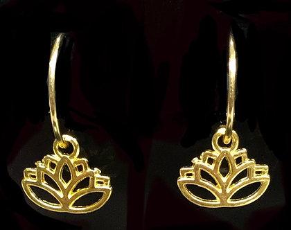 Ladies Oriental Shrine Lotus Earring Set