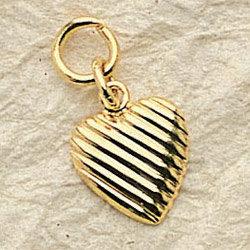 Serrated Heart Charm Pair