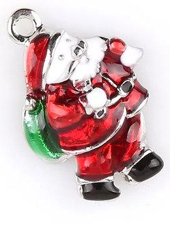 Red Santa Charm Pair