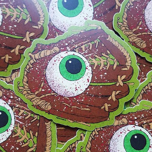 Eye-Catcher // Baseball Mitt Eyeball Vinyl Sticker