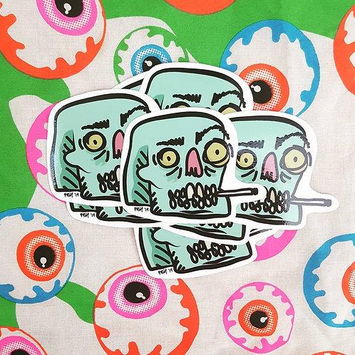 Frot // Zombie Skull Vinyl Sticker