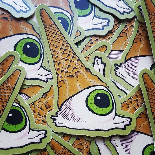 Eye-Scream // Ice-cream Eyeball Vinyl Sticker
