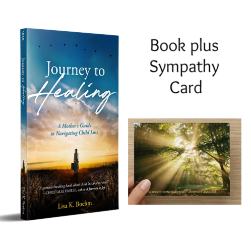 Journey to HEALING book and sympathy card