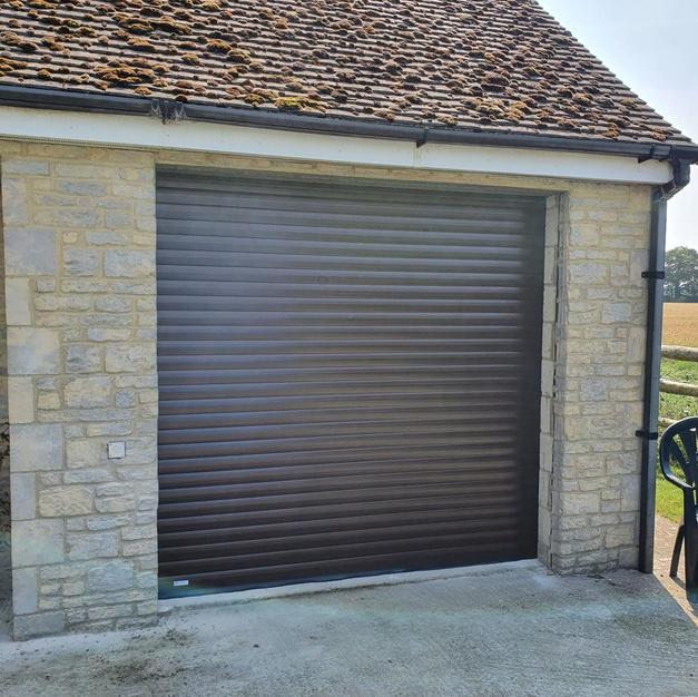 Single rosework garage door fitted in Kidlington