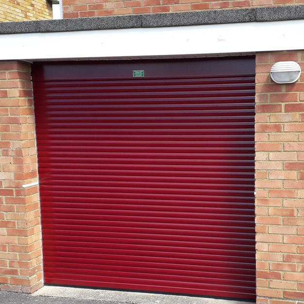 77mm Garage door finished in red