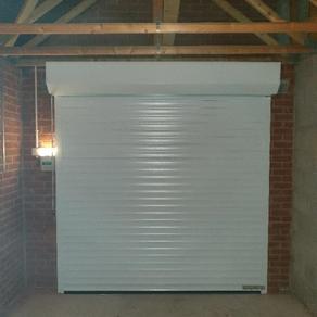 55mm Garage door finished in white.