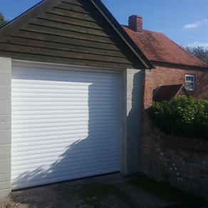 77mm Garage door finished in white