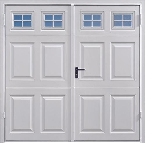 Steel Beaumont With Windows Side Hinged Garage Doors