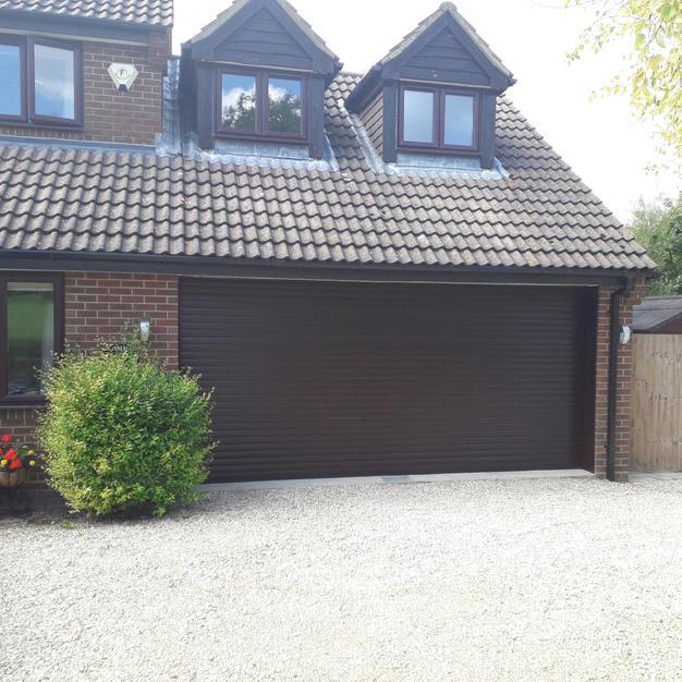 Double garage door fitted in Steveton, Didcot.