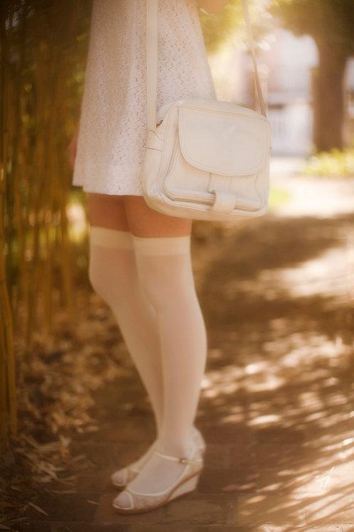 White Soft Leather Purse