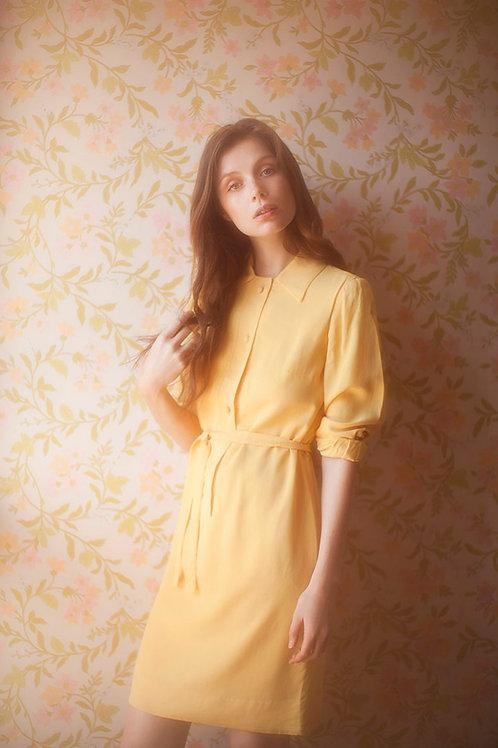 Yellow 1960's dress