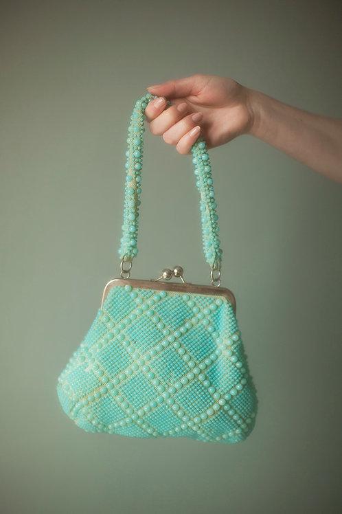 Playful Acqua 1960's purse