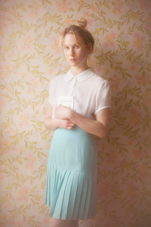 Pleated Pastel Blue Skirt