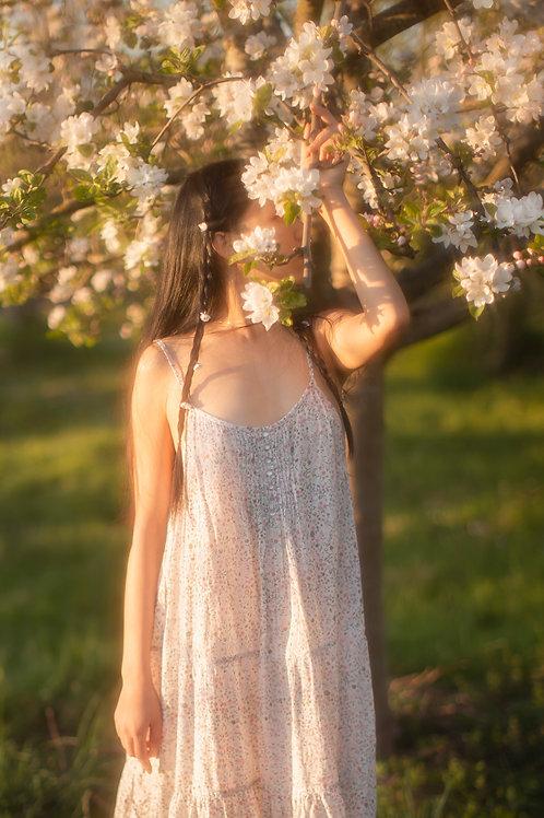 Vintage Liberty Cotton Tiered Summer Dress