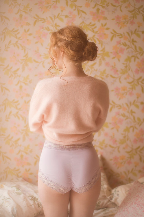 Vintage style High Waist Lilac Knickers