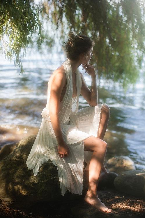 Original Designer Asymetrical Silk Dress