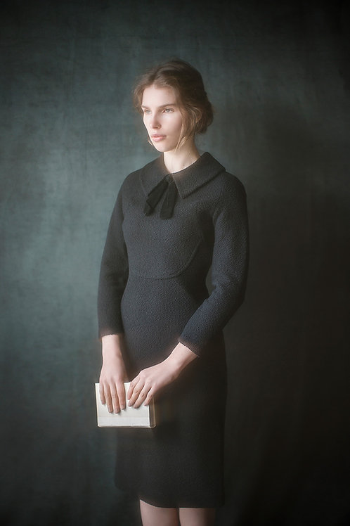 1960s Classic Black Wool Dress