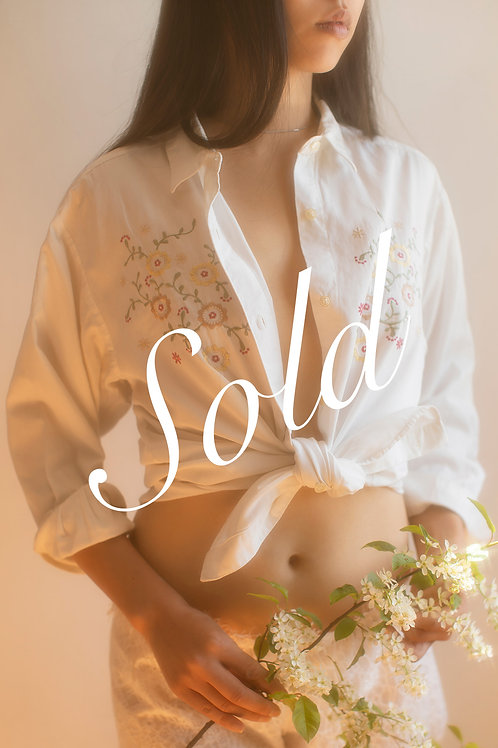 Vintage Embroidered Cotton Shirt