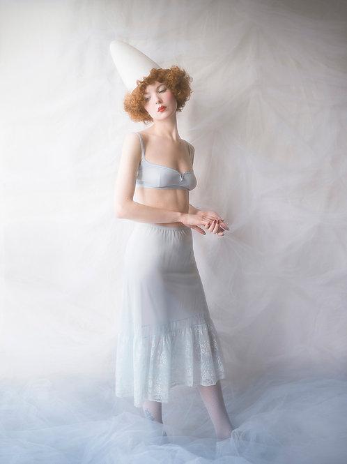 Vintage 50s Pastel Blue Petticoat