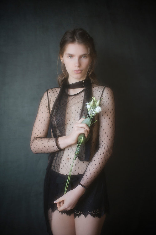 Black Tulle Top
