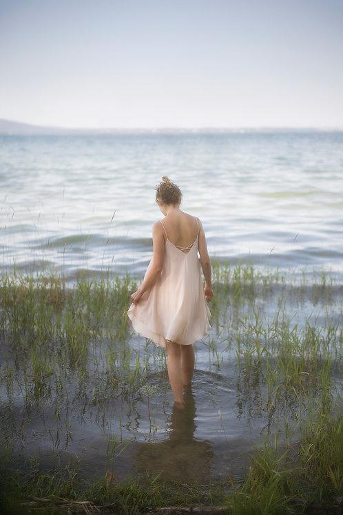 Nude Flowy Dress
