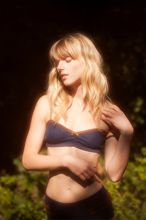 Lovely Navy Bra and Knickers set