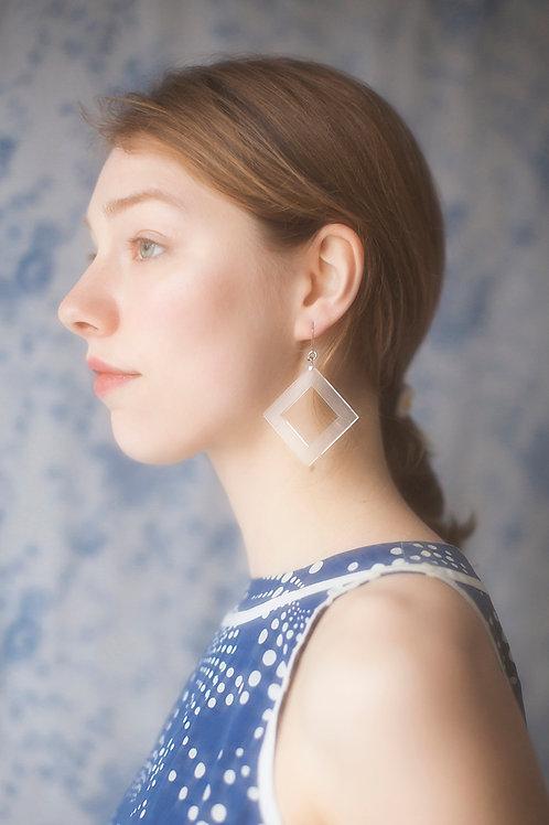 Clear Plexiglass Square Earrings