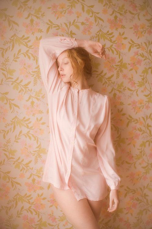 Vintage Pastel Pink Blouse
