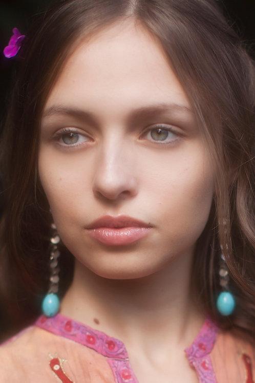 Clip-on Bohemian Turquoise Earrings
