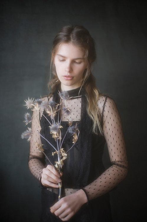 Vintage Designer Black Silk Top