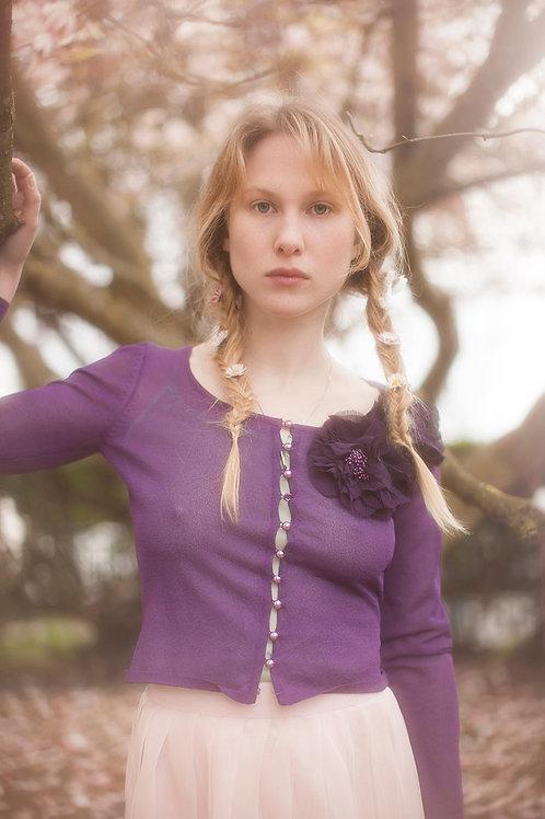 Purple Betsey Johnson Vintage Cardigan
