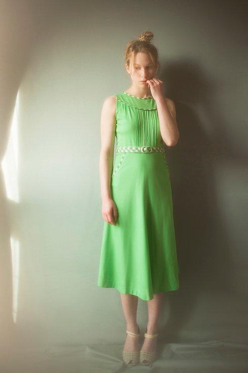 Green Vintage 1960's Sleeveless Dress