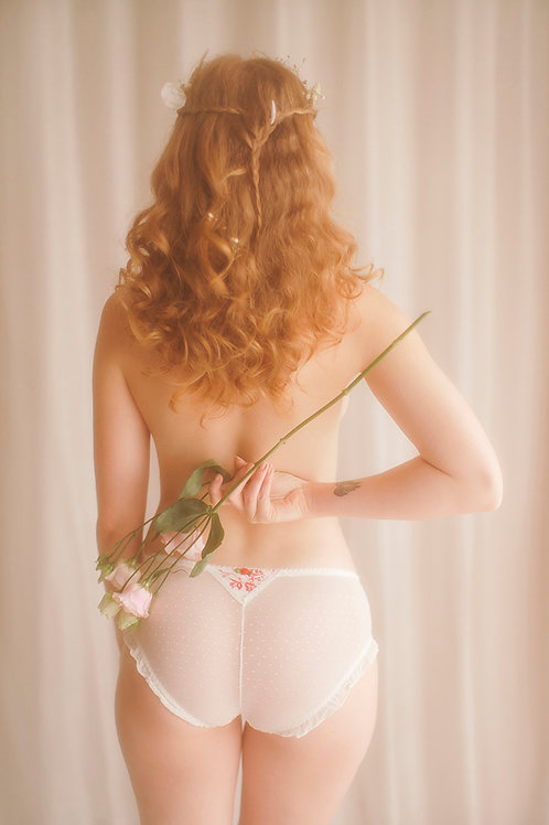 Pretty Red and White Knickers