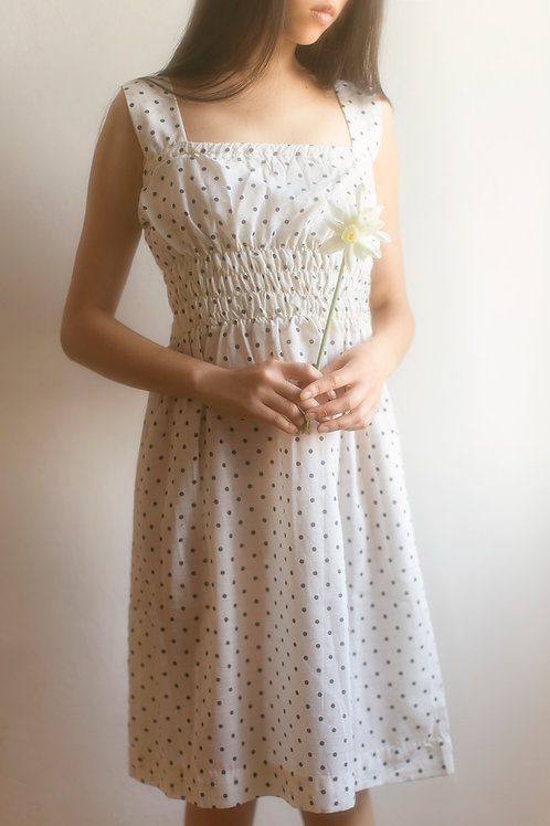 Vintage Polka Dot Summer Dress