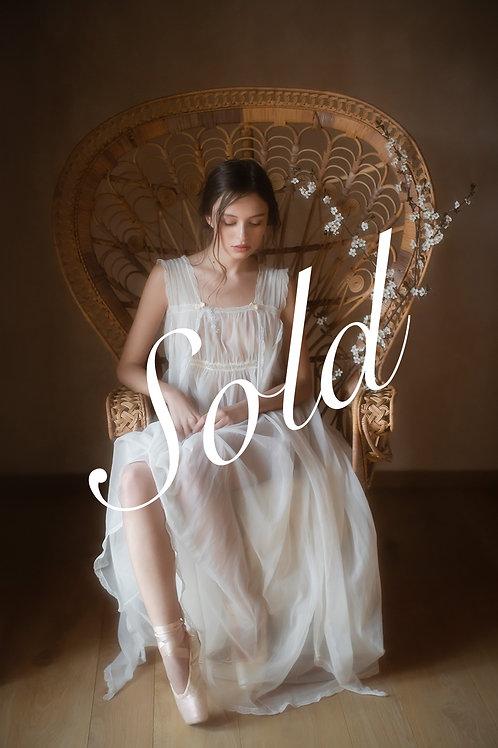 Romantic Vintage Long Sheer Gown