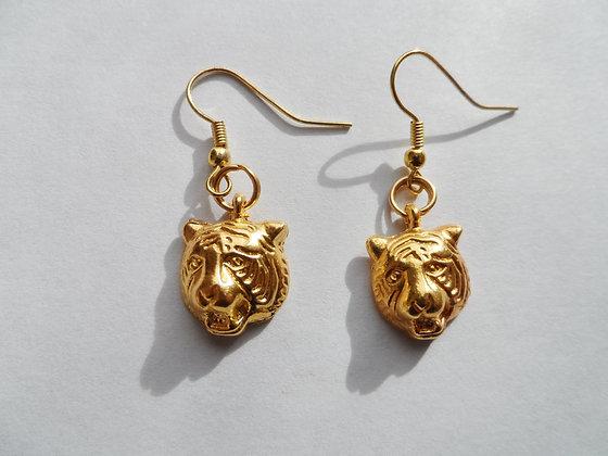 Boucles d'oreilles tigre