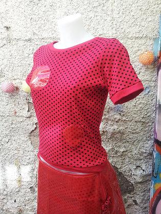 Teeshirt futuriste rouge