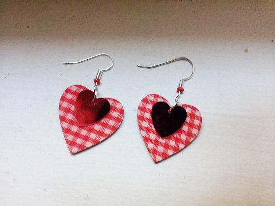 Boucles d'oreille coeur coeur 2